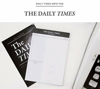 Daily Scheduler Day Planner / To Do List / Handheld Checklist - The Daily Times