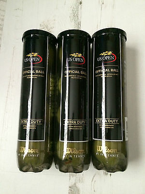Wilson US Open Extra Duty Official Tennis Balls, 3 Sealed Tubes of 4 Balls