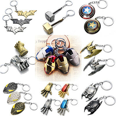 Famous Superhero Mask Metal Keychain Alloy Key Ring Key Chain Pendant Hot