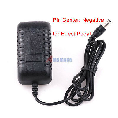 DC 9V 2A Pin Center Negative Guitar Pedal Effects Power Supply Converter Adapter