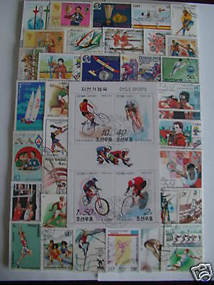 Timbres Sports/jeux Olympiques : 250 Timbres Differents / Sports Olympics Stamps
