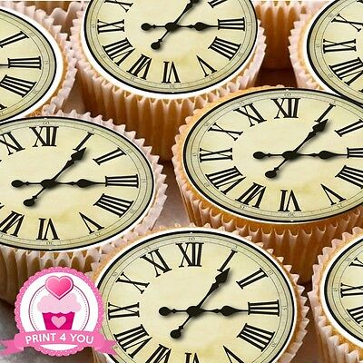24 ND2 Clock Face Antique edible icing cake toppers decorations