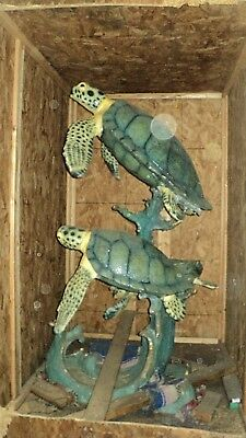 """Beautiful 72"""" H Bronze 3 Turtles Sculpture Fountain * Must See * Never Installed"""