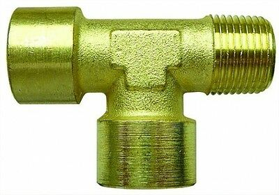 Brass Offset Tee 1 x male & 2 x Female Threads, BSP Threads for Air Fuel Water