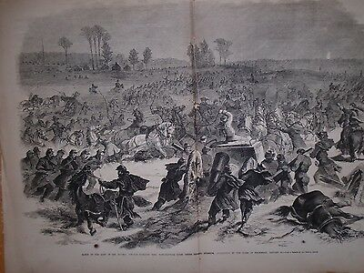 1863 Leslie's Weekly Centerfold - Burnside marches towards Richard's Ford