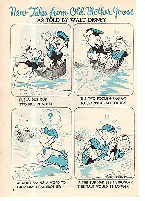 1944 Disney - The Three Little Pigs from Good Housekeeping
