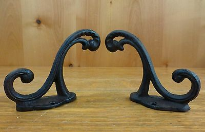 "2 Brown Rustic Elegant Vine 5"" Coat Key Hat Wall Hooks Antique-Style Cast Iron"