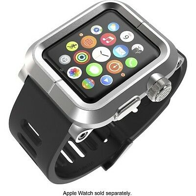 LUNATIK EPIK-008 - Silver Aluminum & Black Silicone Band for Apple Watch 42mm VG