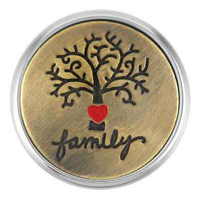 BUY 4, GET 5TH $6.95 SNAP FREE GINGER SNAPS™ Jewelry ETCHED FAMILY TREE SN02-17