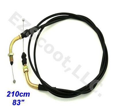 """Throttle Cable 83"""" 210Cm Gy6 4Stroke Chinese Scooter Taotao Vip Bms Znen Kazuma"""