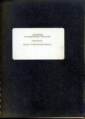 B13 THE HERETIC script '70s unproduced screenplay by Irving S. White
