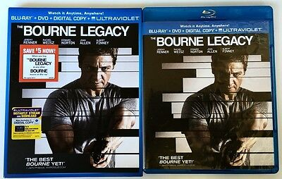 The Bourne Legacy Blu Ray Dvd 2 Disc Set + Slipcover Sleeve Free World Shipping