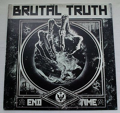 1 LP von   Brutal Truth ‎– End Time /Relapse Records ‎– RR7135 baby blue marbeld