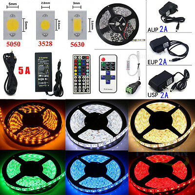 5M 10M 20M LEDs SMD 3528/5050/5630 RGB Flexible Strip String Light(Remote+Power)