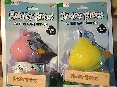 ANGRY BIRDS Action Game Add-On Yellow Pink Bird Choose Your Own Figure Brand New