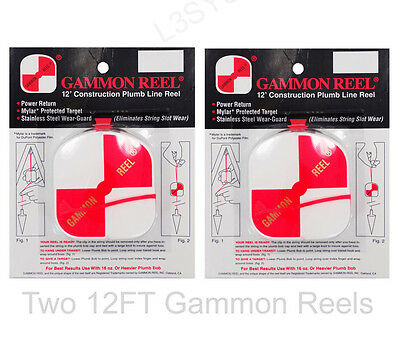 12 Foot Gammon Reel #012 Set of 2