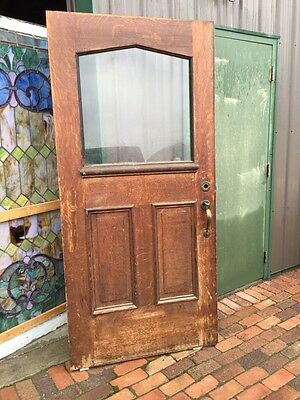 AR 21 Antique Oversize Gothic Entrance Door Oak