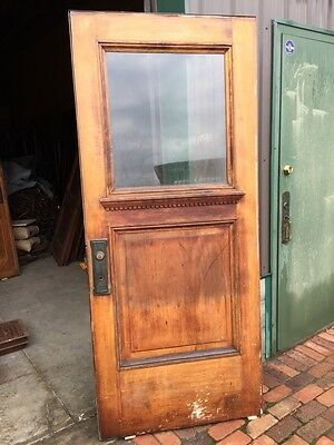 Ar 22 Antique Arts And Crafts Birch Raised Panel Entrance Door With Drip Edge