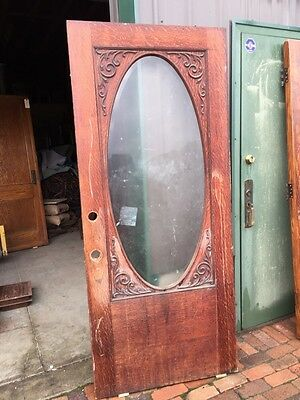 Ar 23 Antique Beveled Oval Entrance Door With Gingerbread 36 Inch