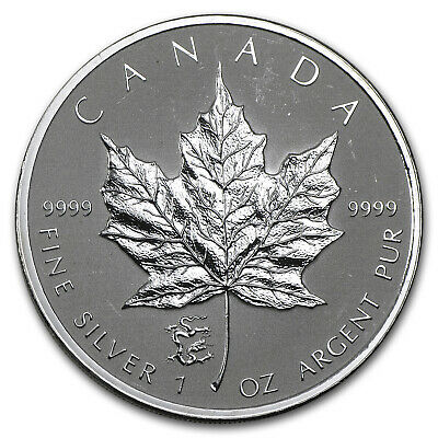 2012 Canada 1 oz Silver Maple Leaf Lunar Dragon Privy - SKU #68123