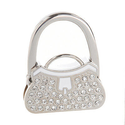 Metal RhInestone Folding Handbag Purse Table Hook Hanger Holder N3
