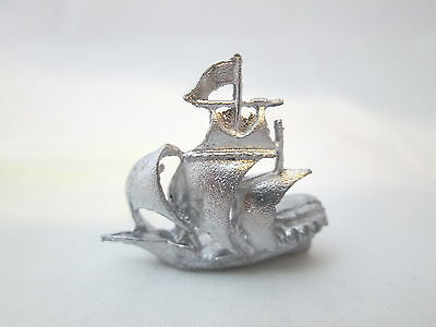 Dollhouse Miniature Unfinished Metal Toy Galleon Ship #2