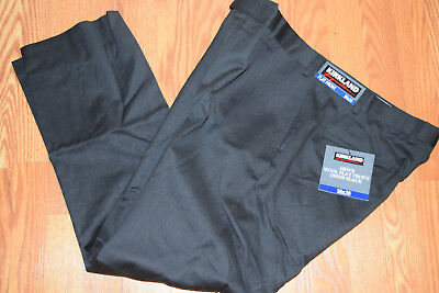 GRAY 32x29 $98 KIRKLAND WOOL PLEAT FRONT DRESS PANTS NWT