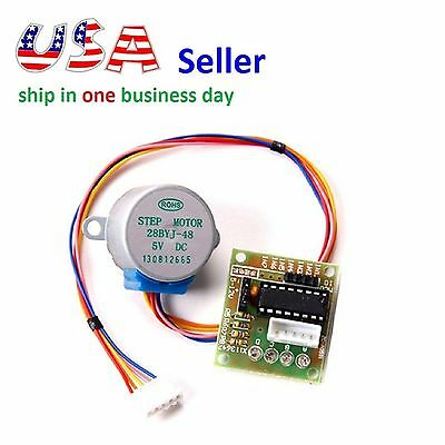 Stepper Motor 28BYJ-48 With Drive Test Module Board ULN2003 5 Line 4 Phase 5V