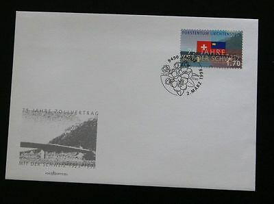 Liechtenstein FDC Mi 1171 Zollvertrag CH