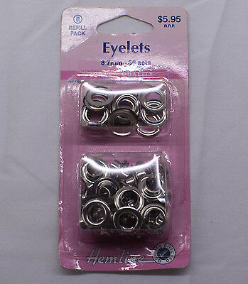 Eyelets, 8.7mm x 36 sets, Hemline