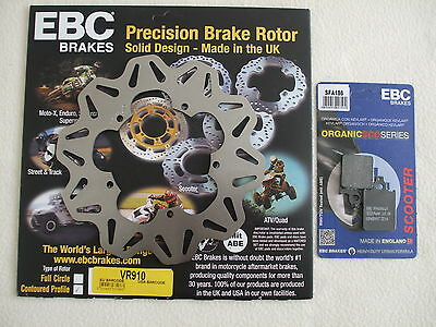 Vespa Px 125 150 200 Ebc Contoured Profile Front Brake Disc And Brake Pads