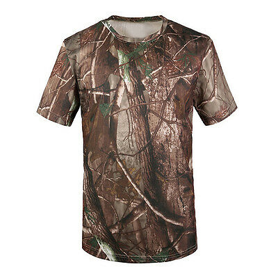 Camouflage T-shirt Men Breathable Sport Camo Tees-Tree camouflage S ED