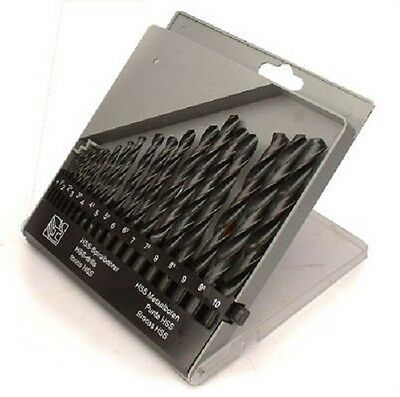19 Piece HSS Drill Set 1mm to 10mm in Storage Case Toolzone DR085