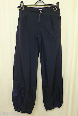 Girls BRANDED Retro Tracksuit Bottoms Navy Shell Pants Age 13 W28""