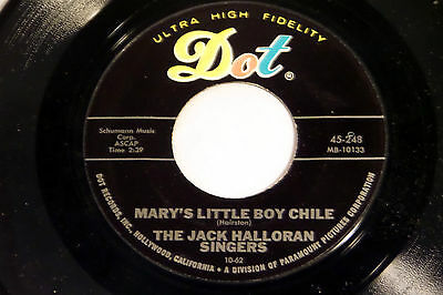 Jack Halloran: Mary's Little Boy Chile / Little Drummer Boy [Unplayed Copy]