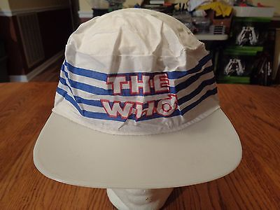 True Vintage 80's The Who Paper Painter's Cap Hat with Plastic Bill ~ Band Music