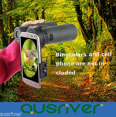 Black Universal Cell Phone Camera Binoculars Interface Bracket Adapter Mounts