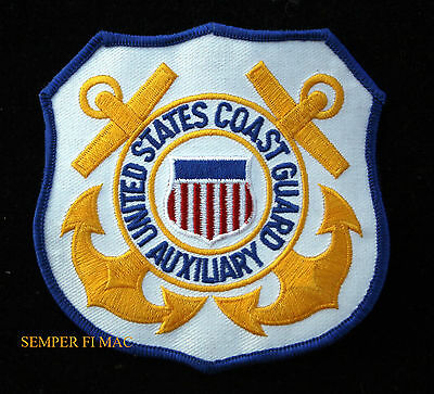 Us Coast Guard Auxiliary Patch Uscg Veteran Gift Pin Up Logo Seal Semper Paratus
