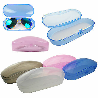 Portable Protector Clear Transparent Shell Eye Glasses Sunglasses Hard Case Box