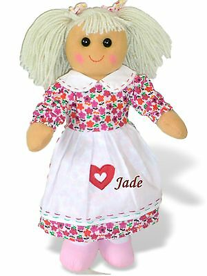Personalised Rag Doll Birthday Christening Flowergirl Bridesmaid Gift  Name Only