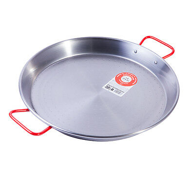38cm Polished Steel Paella Pan Garcima- Spain - Fast & Free Delivery
