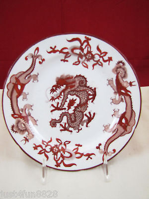 Antique Asian Red Dragon Porcelain Plate