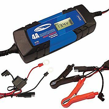 Car Battery Charger Electronic 4A Fast/Trickle/Pulse Modes 6/12V