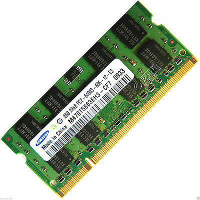 Laptop memory 2GB 2Rx8 PC2-6400S DDR2 800MHz SODIMM- Tested 100% 3 days sale