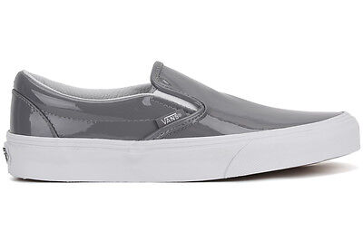 7a0261e741a7ed NEW Vans Classic Slip-On Tumble Patent VN0003Z4IWP Gray Patent Leather Shoes