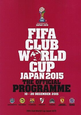 * 2015 Fifa Club World Cup Tournament Official Programme *