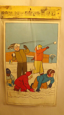 8 Vtg School Safety Posters by Trend 1972 Bulletin Board Teaching Aid NOS