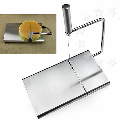 Cheese Butter Cutter Slicer Stainless Simple Design Board Wire