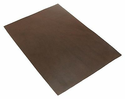 Full Grain Vegetable Tanned A4 Oil Leather Leathercraft Choco Brown 3oz 1.2mm