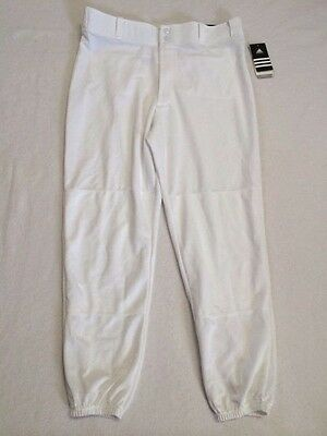 NEW Adidas Mens XL White Incite Closed Bottom Baseball Pants Climalite READ